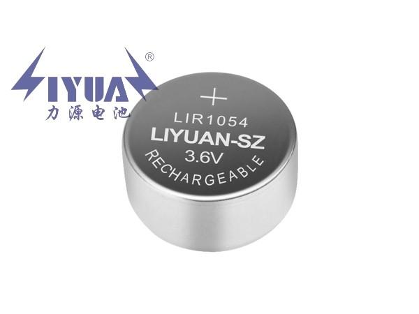 3.6V充电锂离子蓝牙纽扣电池LIR1054