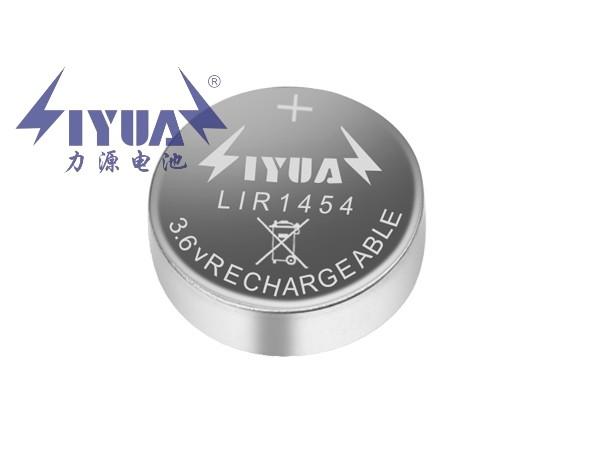 3.6V锂离子充电TWS蓝牙耳机纽扣电池LIR1454