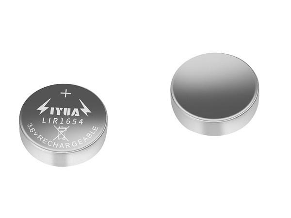 3.6V锂离子充电扣式电池LIR1654