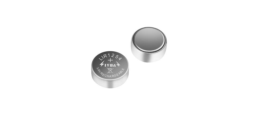 3.6V锂离子充电TWS蓝牙耳机纽扣电池LIR1254