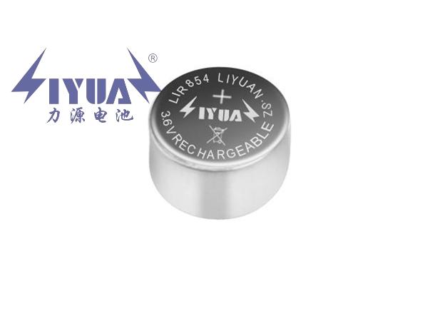 3.6V锂离子充电TWS纽扣电池LIR854
