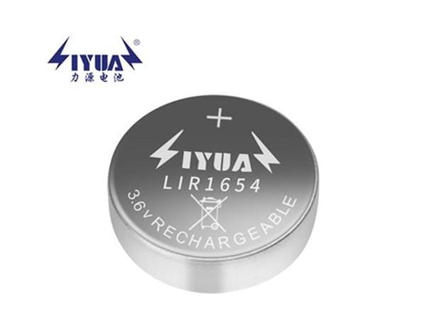 3.6V/3.7V锂离子充电扣式电池LIR1654